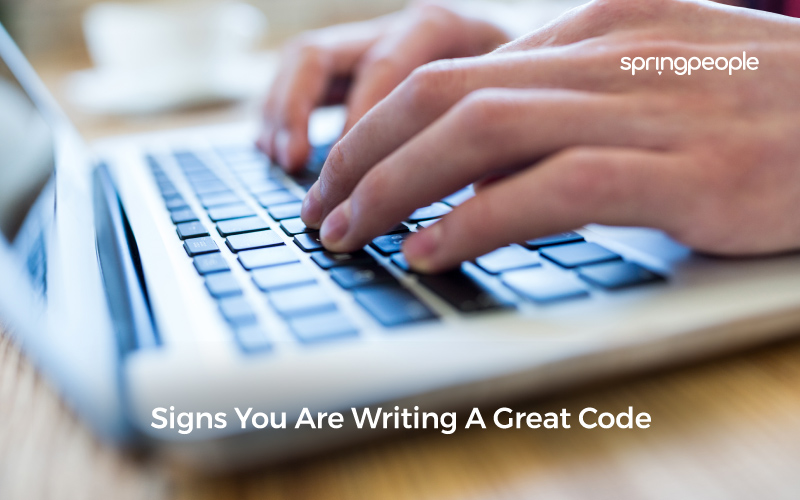 Signs You Are Writing A Great Code